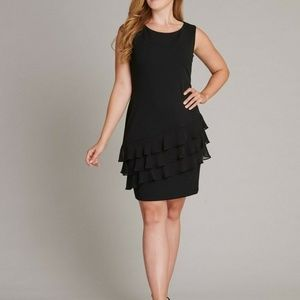 Connected Apparel Lacey Little Black Dress